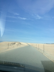 Then the road turned into a desert...